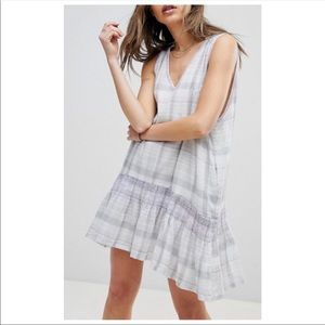 FREE PEOPLE Run With Me Plaid Dress